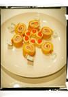 キャラ弁に♡ハムチーズの卵巻き♡