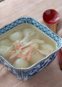 とうがんとカニカマの中華スープ