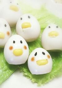 うずらの卵でひよこちゃん