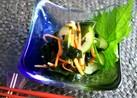 わかめと胡瓜の梅酢和え