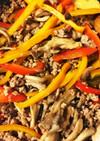 「青椒肉絲」風ピーマンと豚挽き肉の炒め物