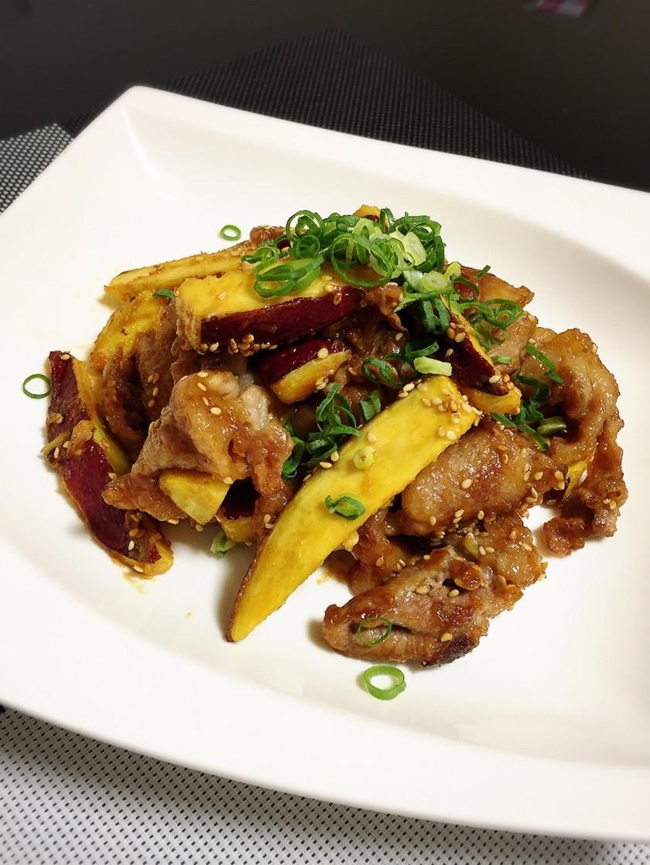 ご飯もりもり!さつま芋と豚肉の甘辛味噌