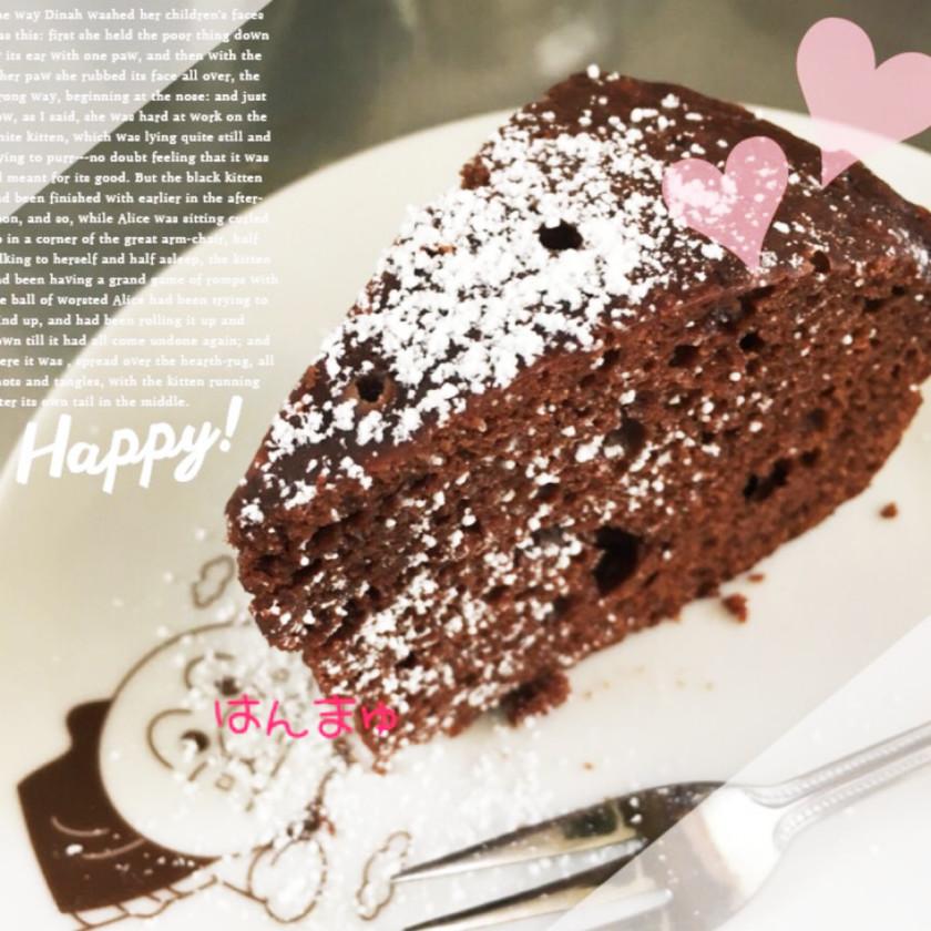 炊飯器とHMで簡単♡チョコケーキ