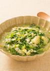 豆苗のかきたまスープ