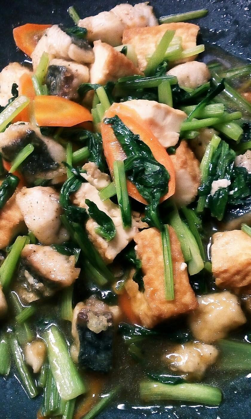 揚げ魚の中華炒め