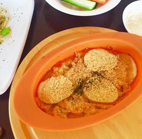 パスタソースで豆腐とお芋のグラタン♡