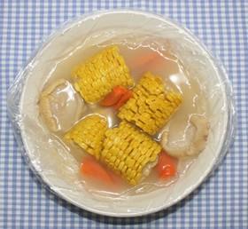 ポリ袋レシピ☆乾燥とうもろこしのスープ