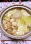 【話題入り】鶏肉と白菜の白だし鍋