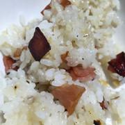 【鶏を焼いて余った油で】ハイカロリー米の写真