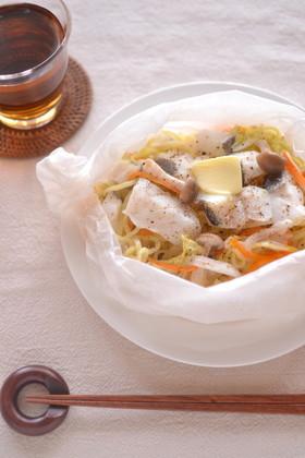 冬✳︎タラと白菜のペーパー焼きそば