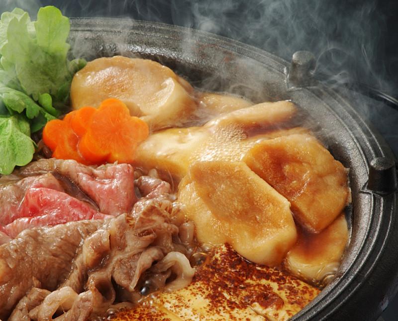 山芋入り煮込み麩で関西風すき焼き