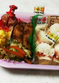 #幼稚園遠足くるくるサンドイッチ弁当#