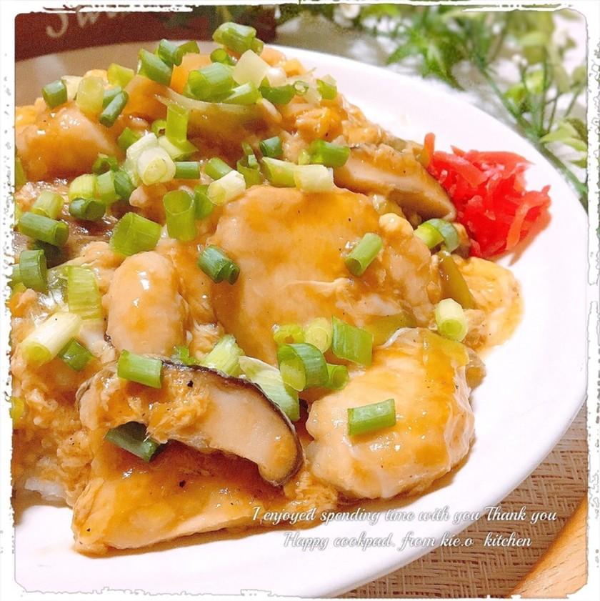 【鶏ムネ肉】❀トロリーンあんかけ親子飯❀