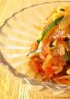 キムチと中華くらげの和え物