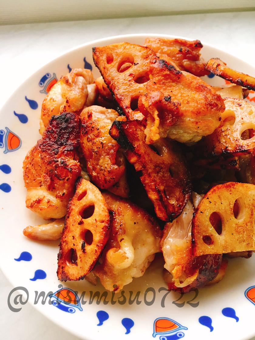 【お弁当に】鶏肉と蓮根の醤油炒め