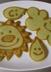 お絵かきホットケーキ(青汁入)