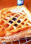 キャラメルアップルパイ。ブルーベリー添え