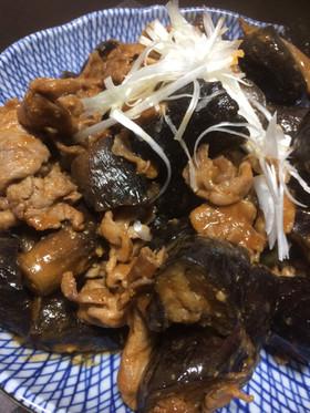 残った焼肉のたれを加えナスと豚肉味噌炒め