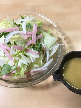 ハムとレタスのサラダ