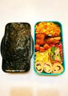 野菜嫌い中学生男子弁当(パパ作2)