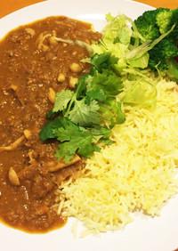 レンズ豆とシメジのカレー