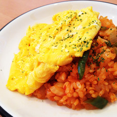 簡単☆肉なし卵ふわとろオムライス