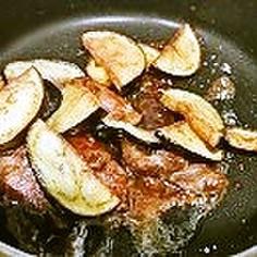 カリッと茄子と牛肉の味噌バター和え
