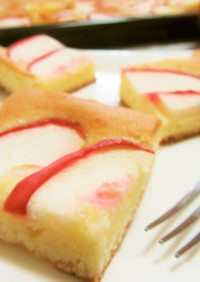 ハンドミキサーで簡単♡りんごの天板ケーキ