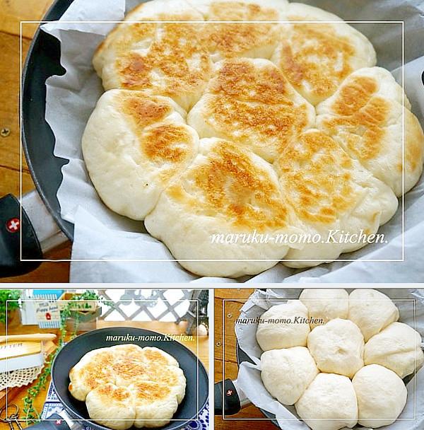 発酵から焼きまでフライパンでちぎりパン♪