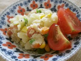 ミックスベジタブルで簡単♡キレイなポテトサラダ