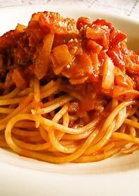 簡単 トマトソースパスタ