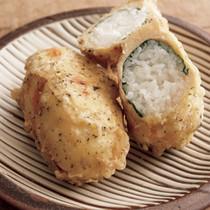 鶏の天ぷらむすびつくね