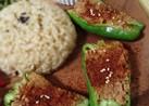 ビーガン★大豆ミートでピーマンの肉詰め