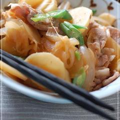 豚とジャガイモの生姜醤油炒め