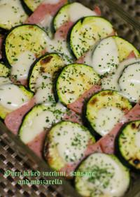 ズッキーニとソーセージの超簡単オーブン焼