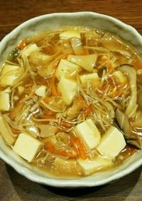 豆腐とキノコのあんかけ