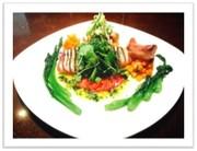 イカの彩り野菜ディッシュの写真