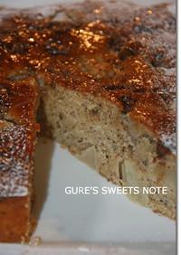 洋梨とチョコチップのヘーゼルナッツケーキ