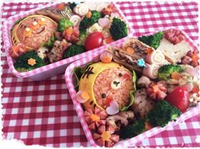 阪神観戦お弁当♡アンパンマン&リラックマ
