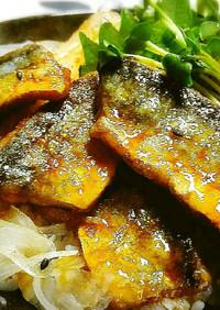 ◆パリッと甘辛♪秋刀魚の照り焼き丼ぶり◆