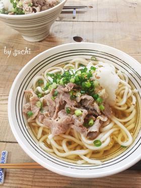 ランチに!簡単!美味しい肉うどん(そば)