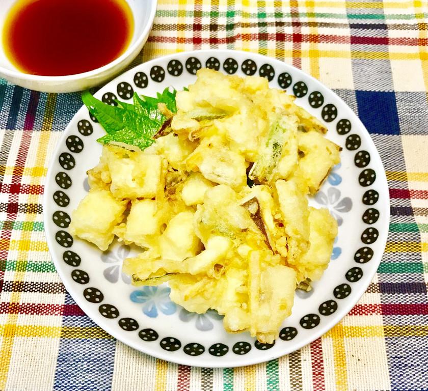 お豆腐のかき揚げ~♪
