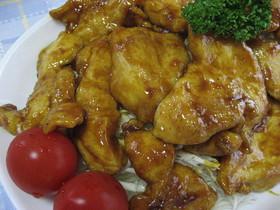 鶏胸肉のやわらかカレー照り焼き❤