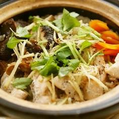 鮭と椎茸の土鍋ごはん