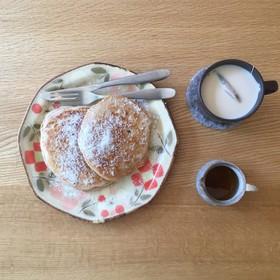 5分でヘルシ〜✨豆乳バナナパンケーキ