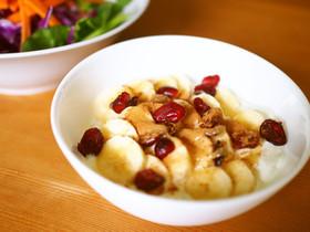 生はちみつシナモンの朝食バナナヨーグルト