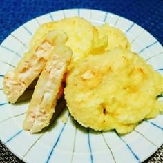 れんこん◎明太クリームチーズ◎天ぷら