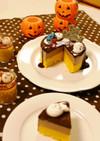 かぼちゃチーズ&チョコムースの2層ケーキ