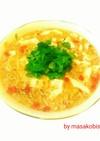 パクチー(香菜)入りお豆腐スープ