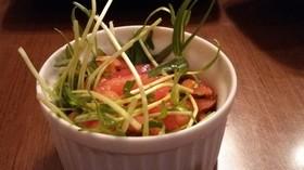 空心菜の芽とトマトのサラダ